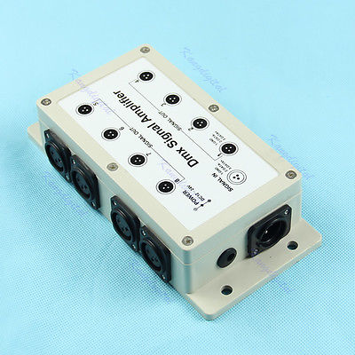 F98+8 Channel Output DMX DMX512 LED Controller Signal Amplifier Splitter Distributor(China (Mainland))