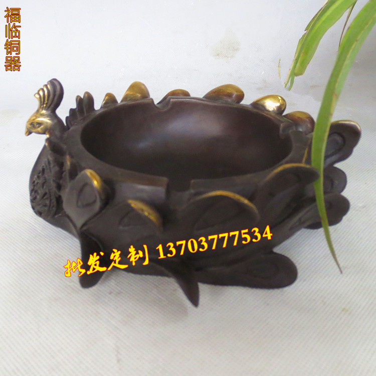 Здесь можно купить  Opening large copper bronze ashtray ashtray ornaments peacock Phoenix Business gifts Opening large copper bronze ashtray ashtray ornaments peacock Phoenix Business gifts Обувь
