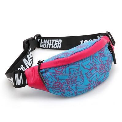 2016 фанни пакет для женщин мода бум мешок точка печатается нейлон поясная сумка ...