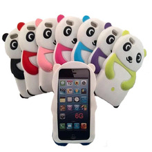 New Free shipping New fashional Cute panda cartoon Soft Silicon Gel Case Cover For iphone 5 5G 5S 5C Mobile phone case SJK0022