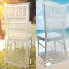 lace back cover chiavari chair cover dinner party celebration supplies(China (Mainland))
