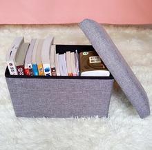 Multi-functional Folding Storage Box Stool Storage Ottoman Sundries Organizer Weight Capacity 100kg(China (Mainland))