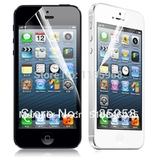 Free shipping high clear for iphone 5 5s screen protector front and back protective film with retail package