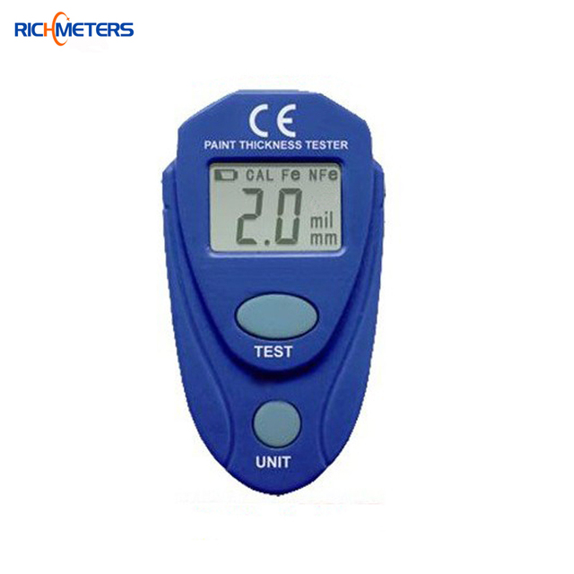 EM2271 Digital LCD Coating Thickness Gauge Car Painting Thickness Tester Paint Thickness Meter DIY Instrument 0-80mil 0.1MM