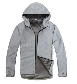 Fashion Autumn Winter Polyester Men's Outdoor Jacket without logo!!!!3M Reflect Cool Sport Jacket Men With Hooded M-XL(China (Mainland))