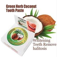 Популярные Зубная Паста Отбеливание Зубов Удалить неприятный запах изо рта 10 г Зеленой Травы Кокосового Зубная Паста Для Чистки Зубов Стоматологической Продукции HM85(China (Mainland))