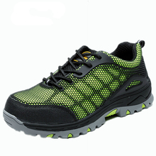 men fashion big size summer dress steel toe caps work safety shoes women's breathable mesh outdoor tooling hiking boots platform(China (Mainland))