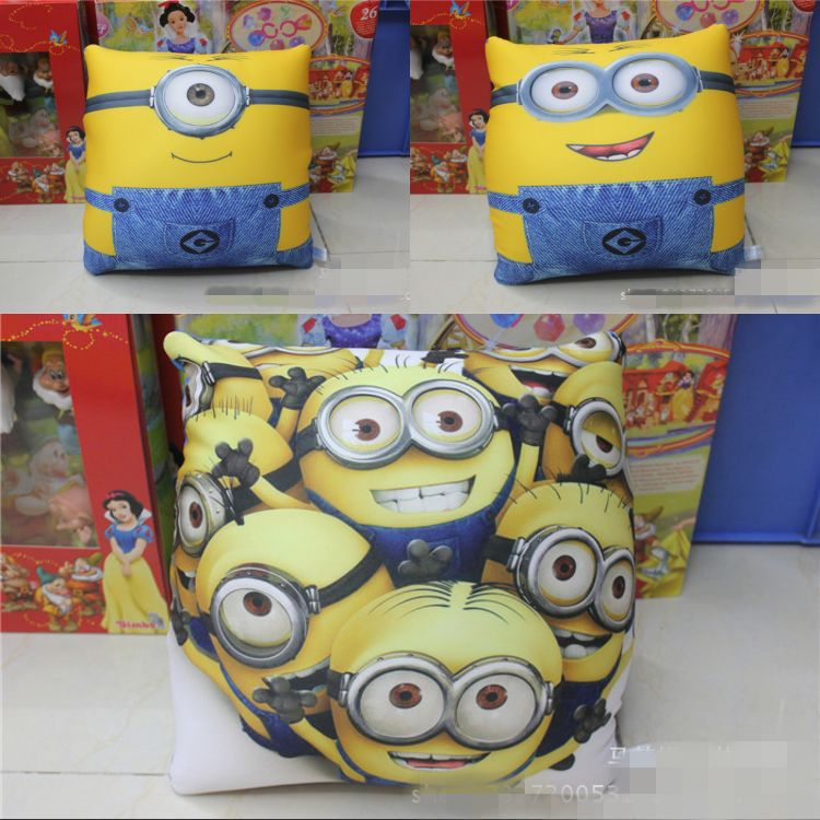 Despicable ME Minions square shape pillow children soft toys little yellow guy smooth cushion pillow travel pillow-FREE SHIPPING(China (Mainland))