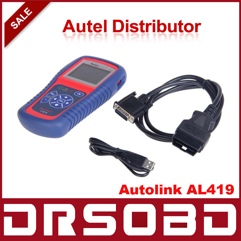 [Authorized Distributor] Auto diagnostic Code Reader Autel AutoLink AL419 Auto Scanner Update Online Multi-Language Autel AL419(China (Mainland))