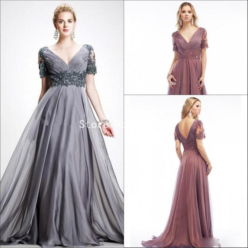 Plus Size Mother Bride Dresses: New Plus Size Mother Of The Bride Dresses Elegant Gray V