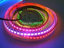 Buy WS2811 WS2812 2812b led digital strip light;144leds/m 144pcs WS2811 IC built-in,2M/roll,DC5V,Black PCB,Waterproof IP65 for $45.89 in AliExpress store