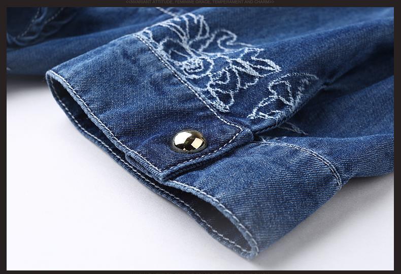 2017 Denim Dress Women Plus Size Half Sleeve Summer Dress Blue Denim Jeans Dress For   Women Ladies Casual Party Dress