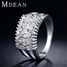 S925 New Romantic White gold Plated ring CZ diamond Luxurious Wedding jewelry Engagement bijoux for women MSR019
