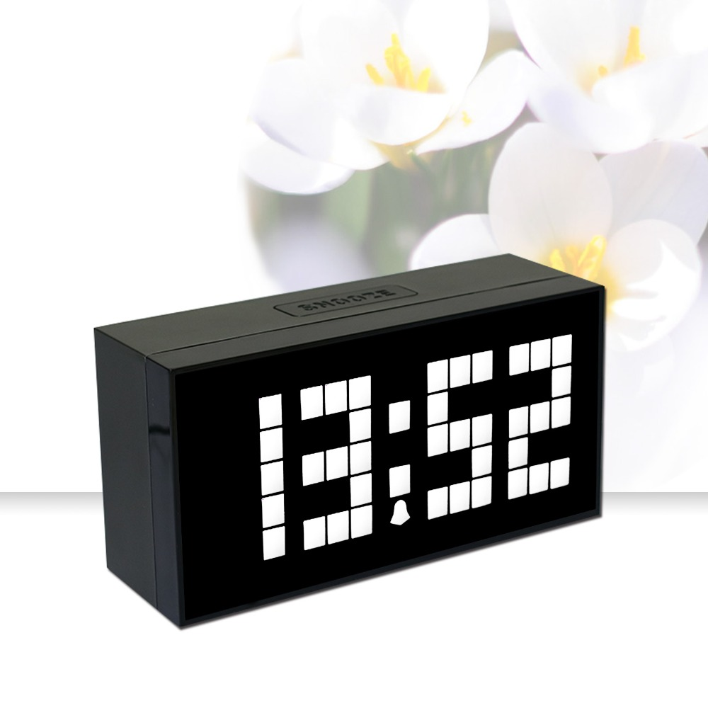 livraison gratuite num rique r veil grande horloge murale led calendrier horloge. Black Bedroom Furniture Sets. Home Design Ideas