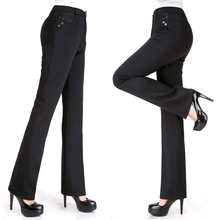 Middle-Aged Women Pant 2016 New Arrivel Solid Color Ladies Fashion All-Match Slim Casual Straight Pants(China (Mainland))
