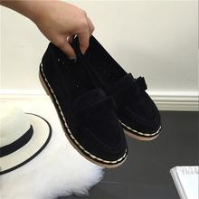 AD AcolorDay 2017 Бабочкой Замши Женская Обувь Причинной Старинные Лодки Женская обувь Скольжения на Черный Женщины Мокасины Обувь Люксовый Бренд весна(China (Mainland))