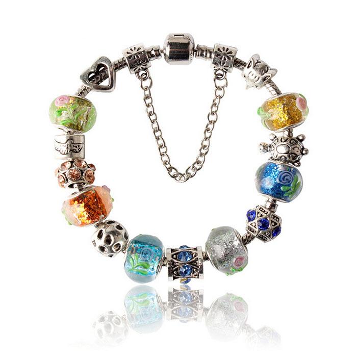 Glass Charm Bracelets Bracelets Murano Glass