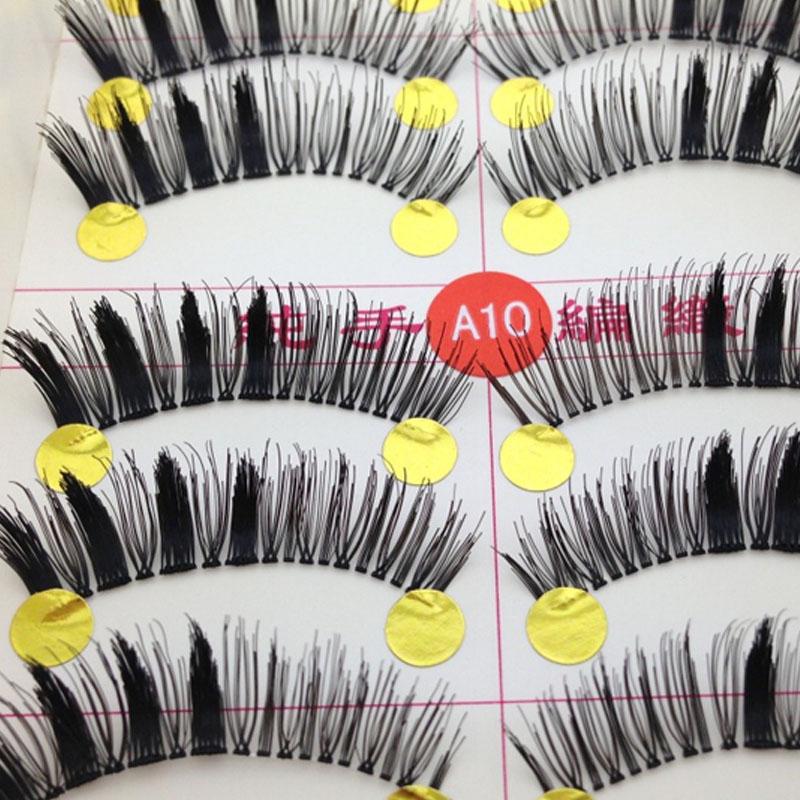10 Pairs cheap Makeup False Eyelashes Handmade Eyelash Extensions Fake Eyelashes Set(China (Mainland))