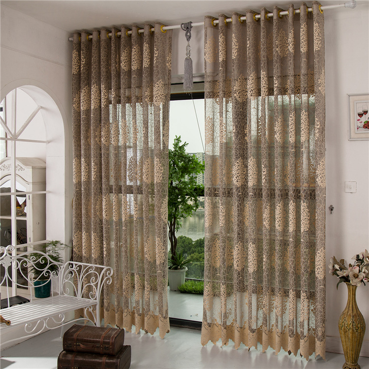 Wholesale Finished Curtains Living Room Tulle Sheer Blackout Luxury Curtains Wedding Balcony