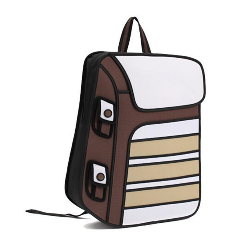 2016 Fashion 2D 3D Cartoon Comic Gismo Canvas Bag Camera Backpack Women Men Unisex Shoulder General Girl School Bags(China (Mainland))