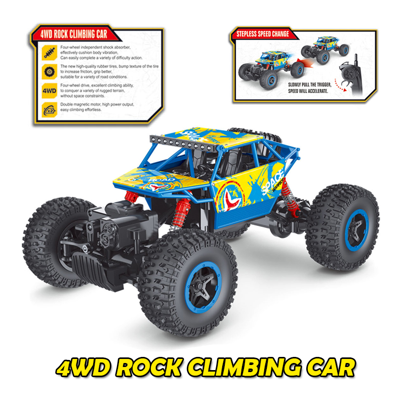 RC Car 4WD 1:16 2.4G Alloy Rock Crawler 4CH RC Model 4x4 Drift Car Bigfoot Car Remote Control Car Auto Demo Off-Road Vehicle Toy(China (Mainland))
