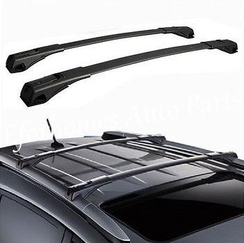 Black Aluminum Roof Rack Cross Bars Set luggage carrier bar Roof carrier bars Rail roof rack For Toyota RAV4 2013-2015(China (Mainland))