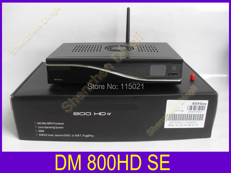 Free shipping dvb-c set top box cable receiver dm800se digital tv box 800hd se support 300M wifi cable tuner dm 800se wifi(China (Mainland))