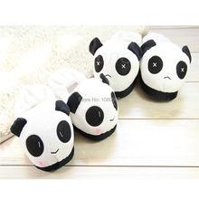 2014 hommes femmes intérieure accueil Slipper mignon Panda douce et chaude en peluche chaussures antidérapantes(China (Mainland))