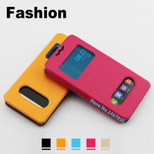 Jiayu F2 case cover Leather 5 inch case cover for Jiayu F2 cover case Universal Window Jiayu F2 phone case