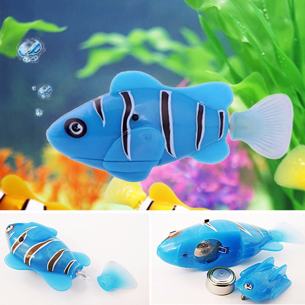 Cat robot toy reviews online shopping cat robot toy for Swimming fish cat toy