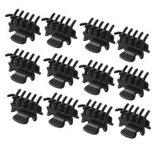 "HOT 12 Pcs 1.1"" Long Black Plastic Mini Hairpin 10 Claws Hair Clip(China (Mainland))"