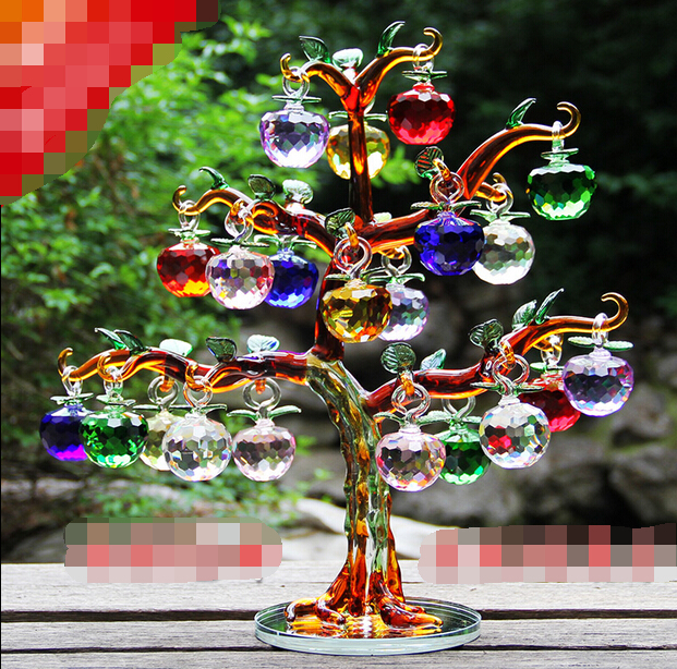 Crystal apple tree ornaments on alibaba group for Apple tree decoration