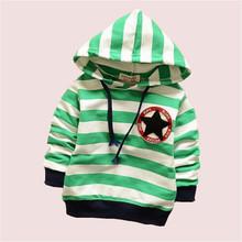 New 2015 Children hoodies baby boys girls Hoodies striped outerwear Children Long sleeve fashion t shirt autumn sweatshirts(China (Mainland))