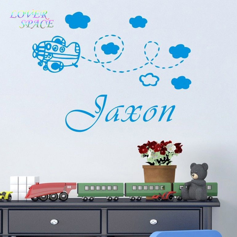 Red Baby Room Aeroplane Wall Stickers