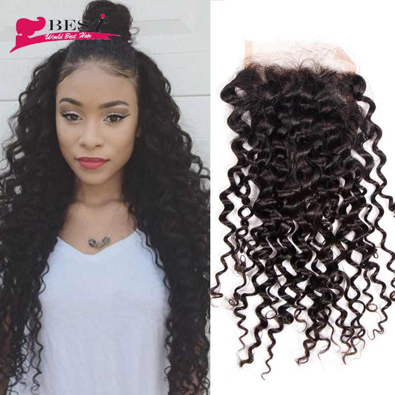 Best Cheap Human Hair with Closure Piece Curly Malaysian Virgin Hair with Closure 4Bundles Cheap Unprocessed Hair with Closure