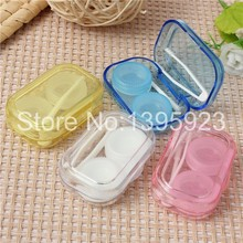 NEW ARRIVAL!!1PCS New Portable Mini Transparent Contact Lens Case Storage Box Holder Container(China (Mainland))