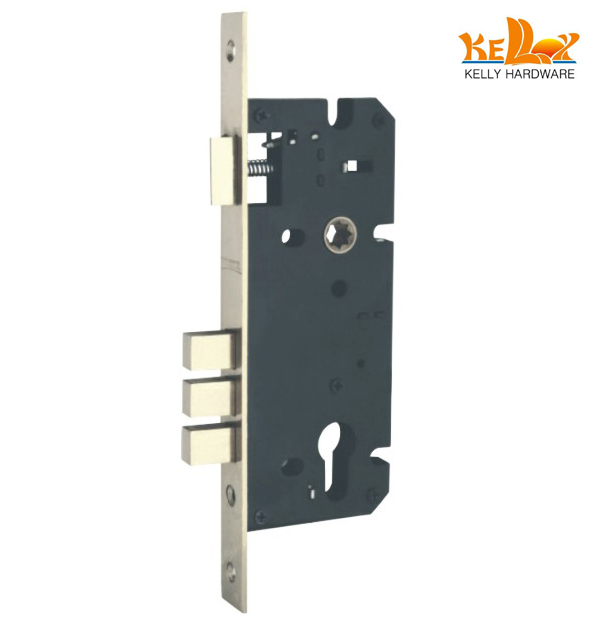 mortise lock single latch three bolts Door lock accessories door lock / Door hardware/ lock accessories 60x85mm(China (Mainland))