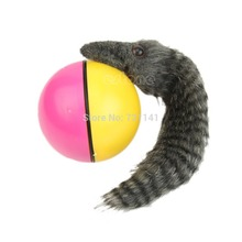 J34 Free Shipping Beaver Weasel Rolling Motor Ball Pet Cat Dog Kids Chaser Jumping Fun Moving Toy(China (Mainland))