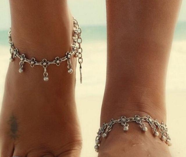 2015 мода шарм ножные браслеты винтаж ног ювелирные изделия древний посеребренная ...
