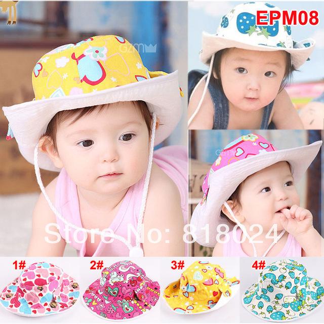 Ведро шляпы розничная летом напечатаны ребенок шлем ведра, Дети мальчики девушки солнце пляж шляпа, Младенца верхний, Лето и шапки бесплатная доставка