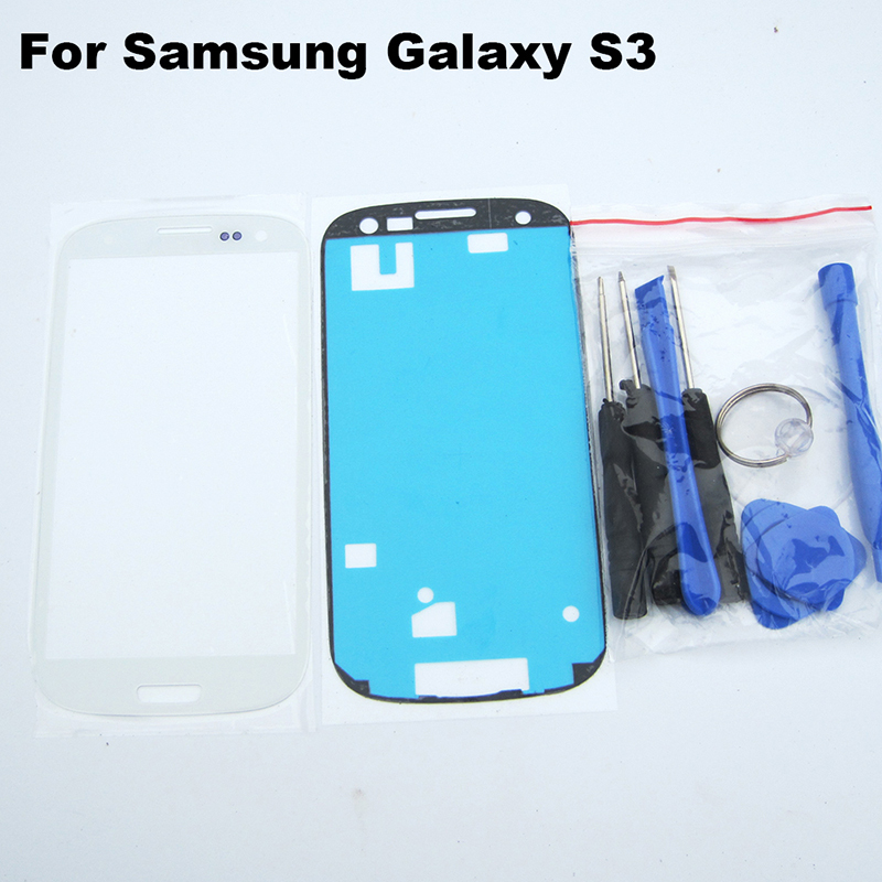 White S3 Outer Glass for Samsung Galaxy S3 LCD Touch Screen Digitizer Front Glass Lens GT- i9300 free tools and 3M sticker