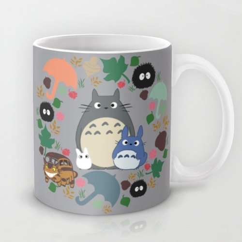 My Neighbor Totoro Ghibli Soot Sprites Dishwasher&Microwave Safe coffee mugs heat changing color Hot Reactive porcelain Tea mug(China (Mainland))