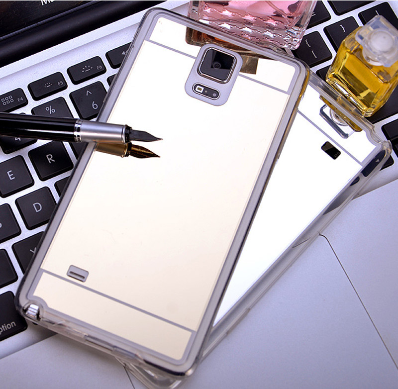 4Colors Luxury Bling Case Electroplate Soft TPU Clear Mirror Cover For Samsung Galaxy S3/4/5 S6Edge A5/7/8 2015 Note 3/4/5