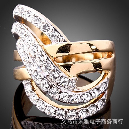 2016 Sapphire Jewelry Rushed Anel The Gorgeous 18k Plated Ring O Crystal Rings For Woman And Fashion Jewelry No Minorder Rg200(China (Mainland))
