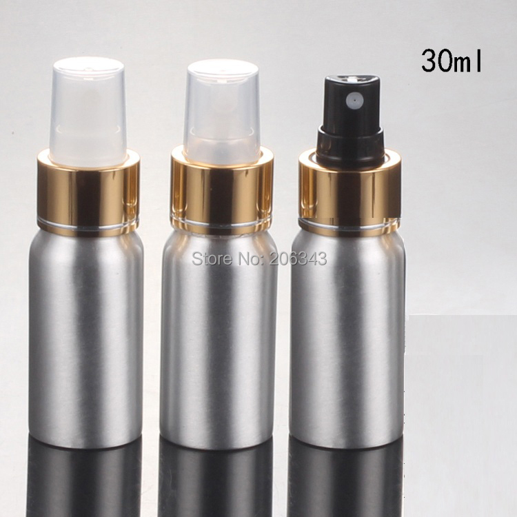 100pcs 30ml Aluminium bottle spray  bottle or  Aluminum metal bottle mist sprayer  bottle  or perfume bottle