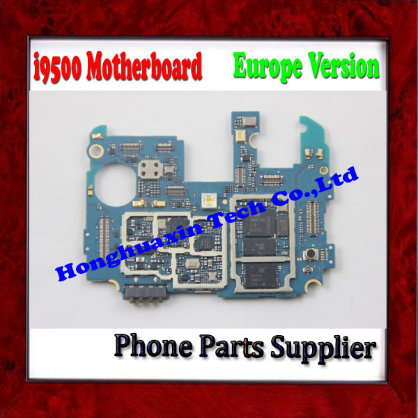 Europe Version 100% Original Unlocked Mother Board For Samsung Galaxy S4 i9500 Motherboard with Chips Free Shipping