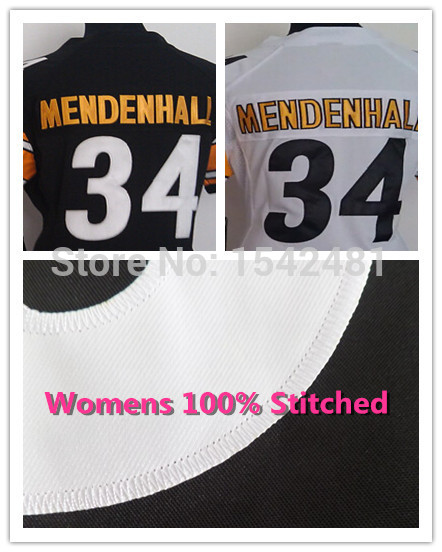 Rashard Mendenhall jersey womens elite ladies American Football steelers woman jerseys authentic Stitched big size 60 S-XXXL(China (Mainland))