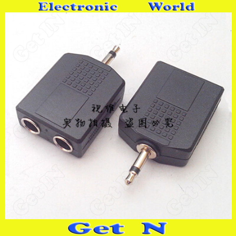 10pcs Adapter Connector Converting 3.5 Mono Track to Dual 6.35/6.5 Female 3.5 Mono Track to 6.5KK<br><br>Aliexpress