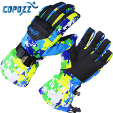 COPOZZ men's ski gloves Snowboard Gloves Snowmobile Motorcycle Winter Skiing Riding Climbing Waterproof Snow Gloves(China (Mainland))