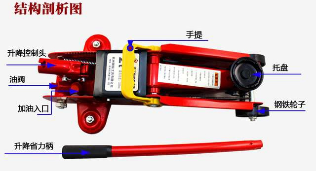 Supplies of steel tire Rio car jack 2 t horizontal auto repair tool(China (Mainland))
